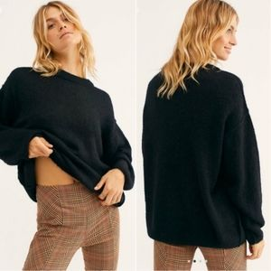 NWT Free People Black Angelic Pullover